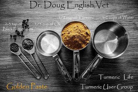 golden paste recipe from Turmeric User Group on Facebook